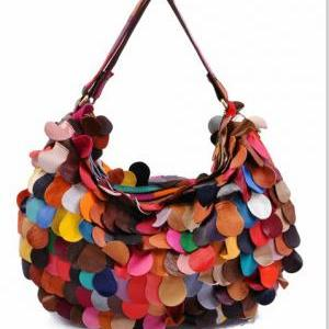Cool Colorful Flaps Handbag Shoulde..