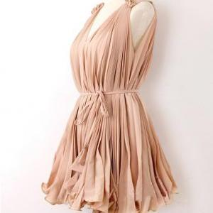 Sweet elegant pink Pleated chiffon ..