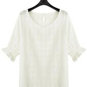 Women White Linen Dress Yellow Skir..