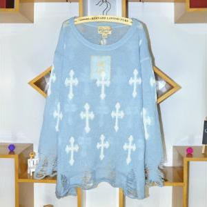 *free Ship* Sky Blue Harajuku Hole ..