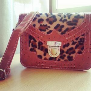 Mini Satchel Bag In Light Brown And..