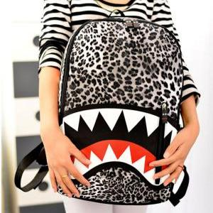 Fashion Leopard Printed Shark Schoo..