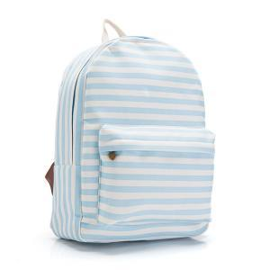 Blue Stripes Canvas Backpack 062700..