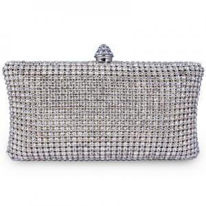Full Crystal Evening Clutch Bag New..