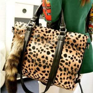 New Fashion Fox Tail Ornaments Leop..