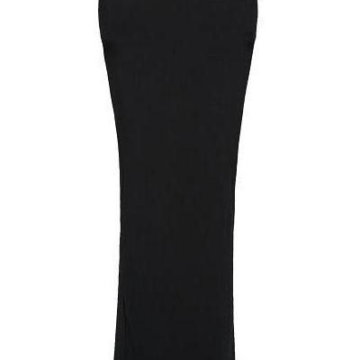 Side Slit Sexy Black Cotton Skirt