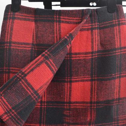 Fashion Tall Waist Tartan Skirts 67..