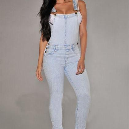 European Style Women Jumpsuit Denim..