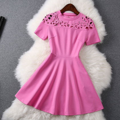 Butterfly Hollow Out Fashion Dress ..