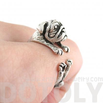 Pug Animal Ring Wrapped Around Your..