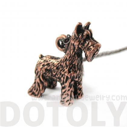 3D Detailed Schnauzer Shaped Dog Lo..