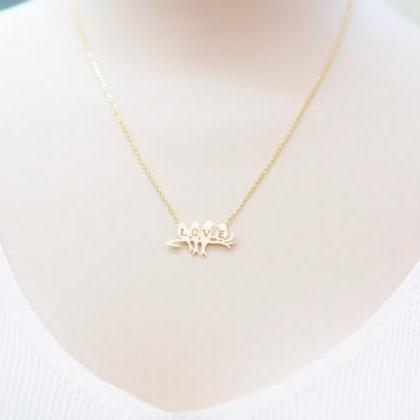 Bird Necklace Tiny Bird Pendant Nec..