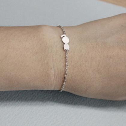 Dainty Cat Bracelet Everyday Jewelr..