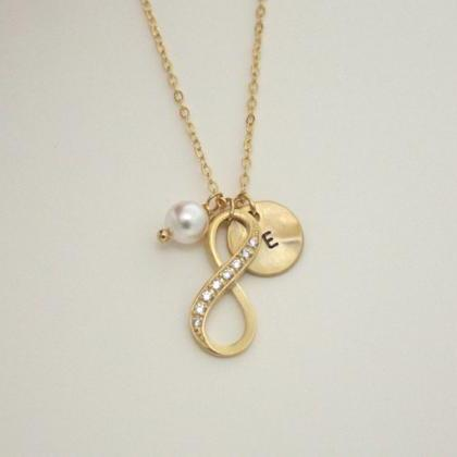 Infinity Necklace Personalized Init..