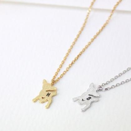 Personalized Initial Deer Necklace ..