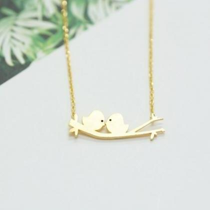 Two Birds On A Branch Necklace Two ..