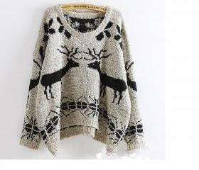 Deer Patterned Knitt..