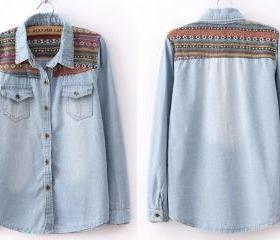 Vintage Blue Denim S..