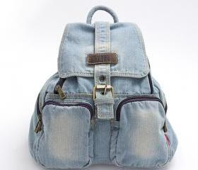 Light Blue Denim Bac..