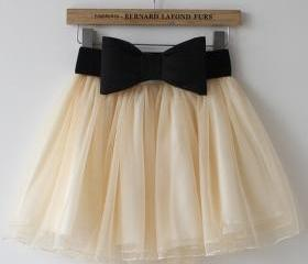 Lace bow skirt MY002..