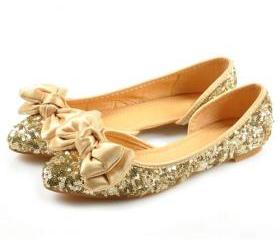 Pointed-Toe Sequined..