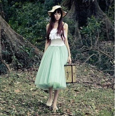 Lovely Skirt Tulle Skirt 2014 Summer Skirts Women Skirt