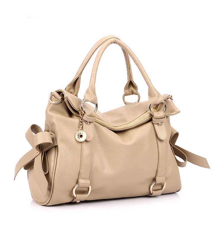 Fashion Cream Bow Temperament Handbag