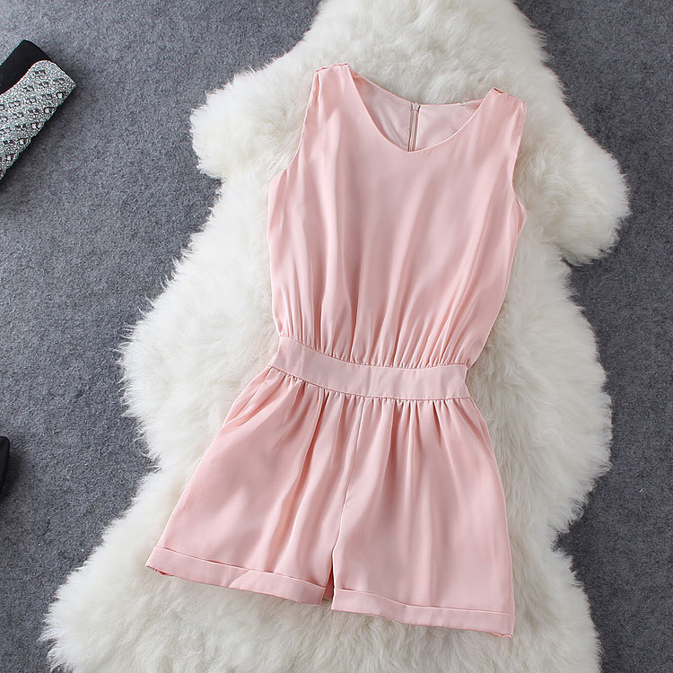 Fashion Round Neck Sleeveless Jumpsuit GH804D