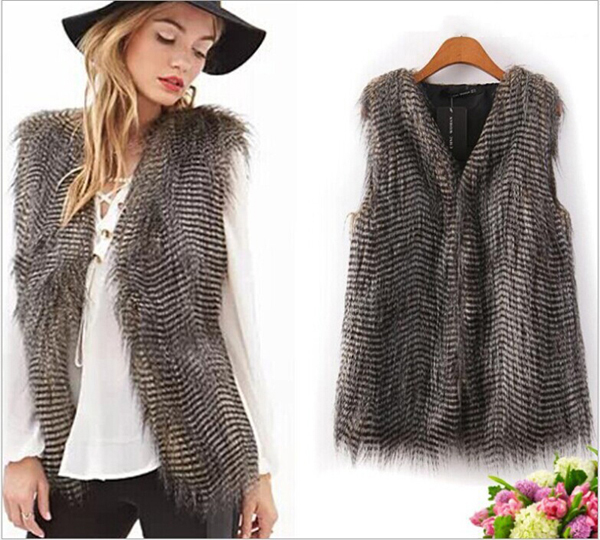 Women Comfortable Sleeveless Faux Fur Vest Outerwear Coat Jacket Waistcoat Tops