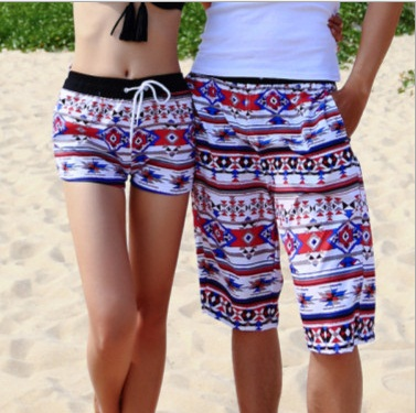 Graffiti Beach Shorts Men Lovers Short Swimwear Women Beach Short Pants Black White Stripe Stars Swimming Surf