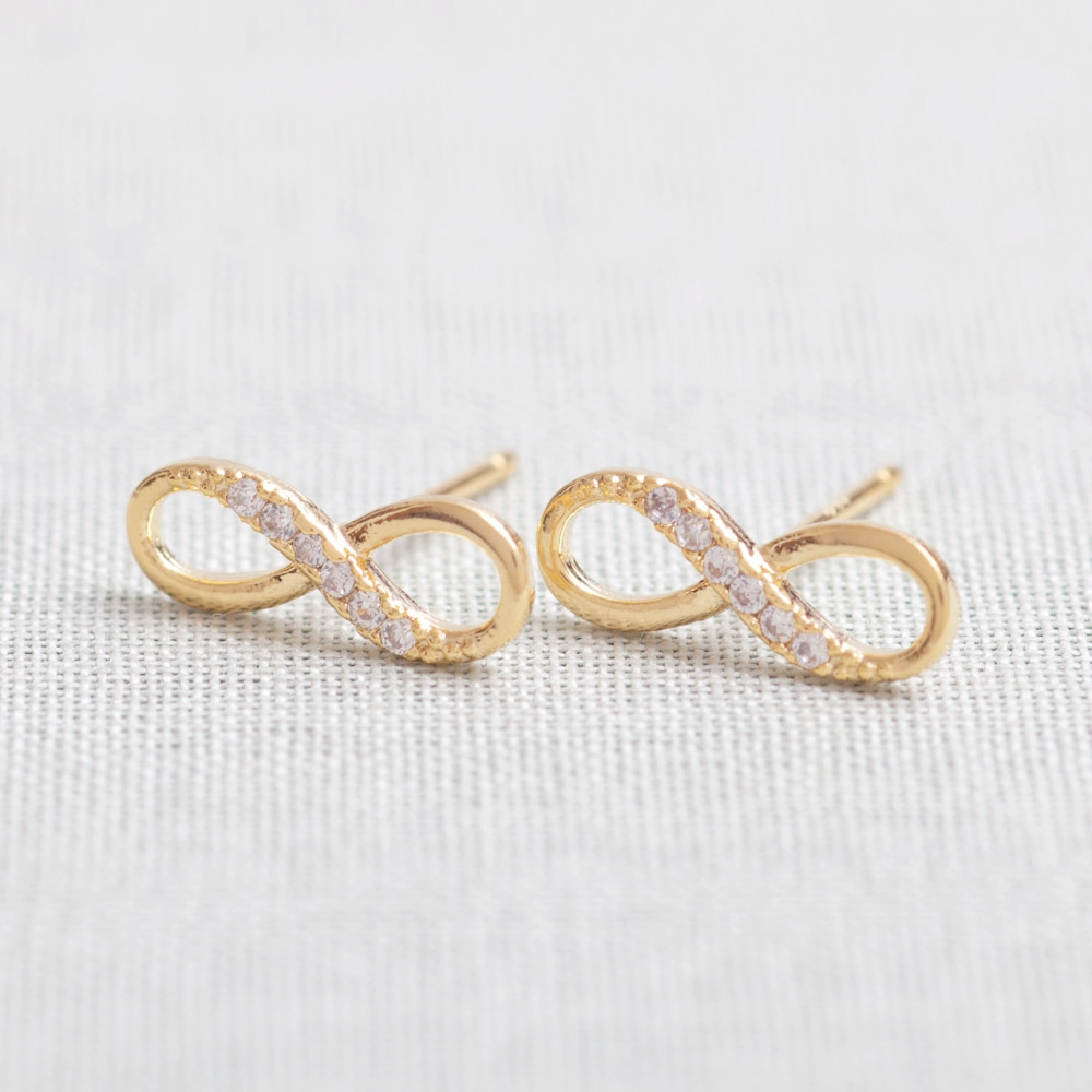 symbol claire sterling us s silver stud infinity earrings