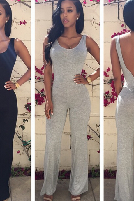 Irregular Round Neck Fashion Jumpsuits Mae80Zk