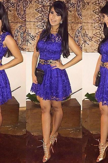 Purple Lace Sleeveless Dress Pp0110I