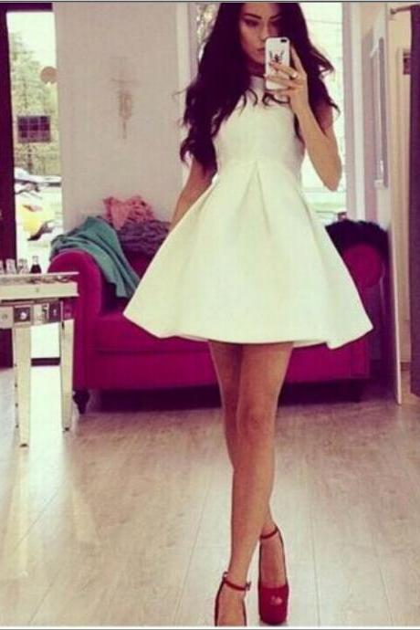 White Sleeveless Dress As107Ch