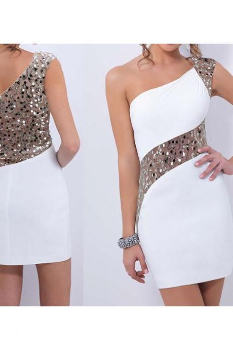 Fashion Sexy Evening Dress White Mini Dress Cocktail Dress Summer For Women Lady