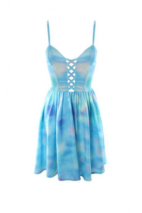 Backlhole Sky Print Sexy Dress Party Dress