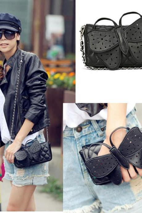 Fashion Designer Women Butterfly Bow-Knot Bow Knot Clutch Purse Wristlet Evening Chain Wallet Handbag Shoulder Messenger Bags