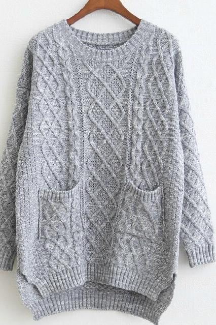 Loose Knit Sweater Pl1107H