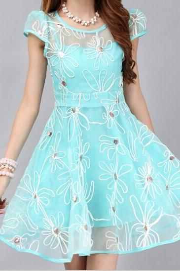Organza Embroidered Dress Mx6129
