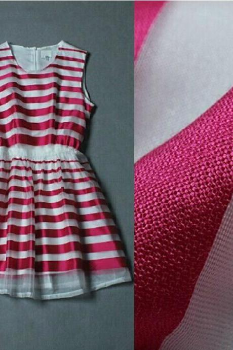 Striped Organza Dress Vest Dx619038