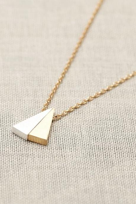 Double Triangle Gold Chain Necklace
