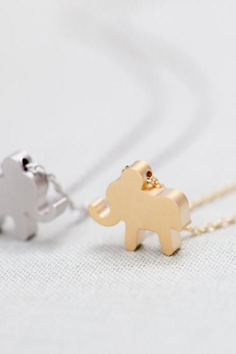 Sale-Lucky Elephant Necklace In Silver
