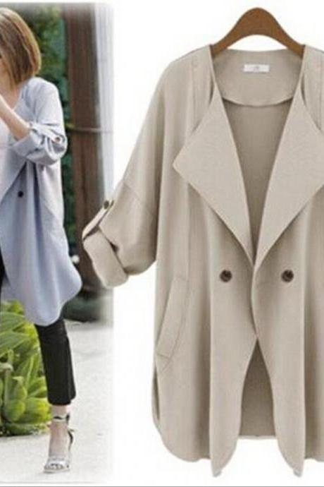 Fashion Casual Pure Color Coat 6395Qk