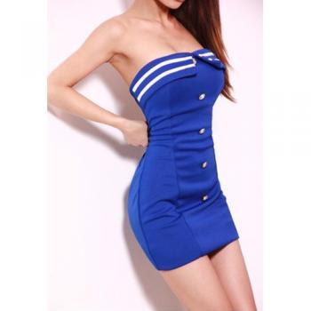 Cultivate one's morality show thin package hip strapless dress