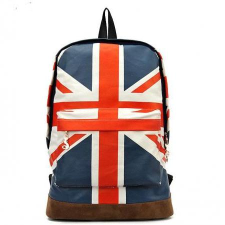 Fashion British Flag Canvas BackPack&Shoulder Bag&School Bag
