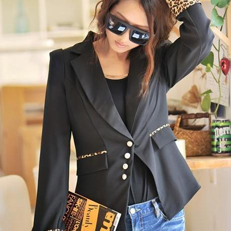 Free Shipping Vogue Long Sleeve Single Breasted Cotton Suits
