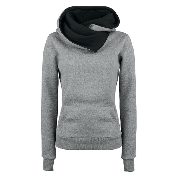 Girls Hoodie - Cute Regular Length Long Sleeves High Neck Hoodies