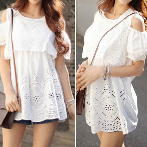 Fashion Hollow Out Crochet Off-Shoulder Tops