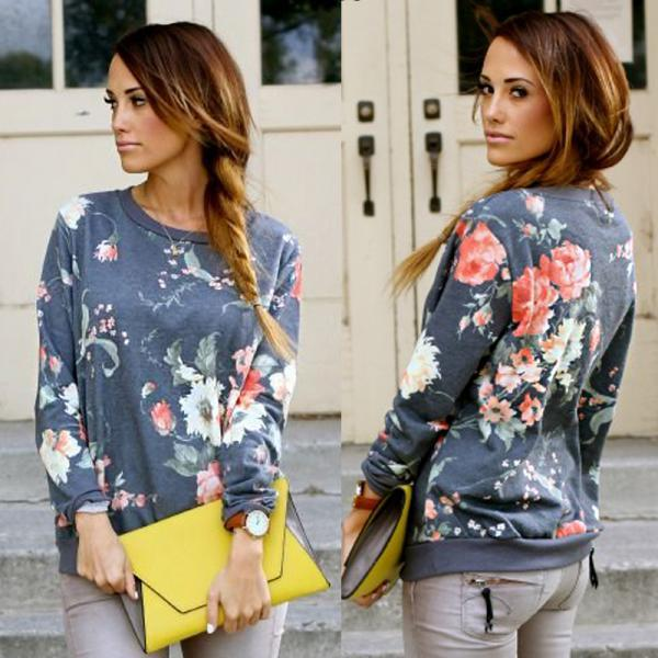 Casual Womens Pullover Jumper Hoodie Long Sleeve Hooded Coat Sweatshirt Top