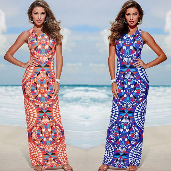 Sexy Womens Evening Party Dress Boho Summer Beach Long Maxi Dresses Sundress